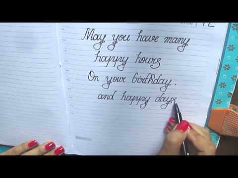 Happy Birthday Message In Cursive♣♣What To Write On Birthday Card In Cursive♣♣Good Wishes In Cursive