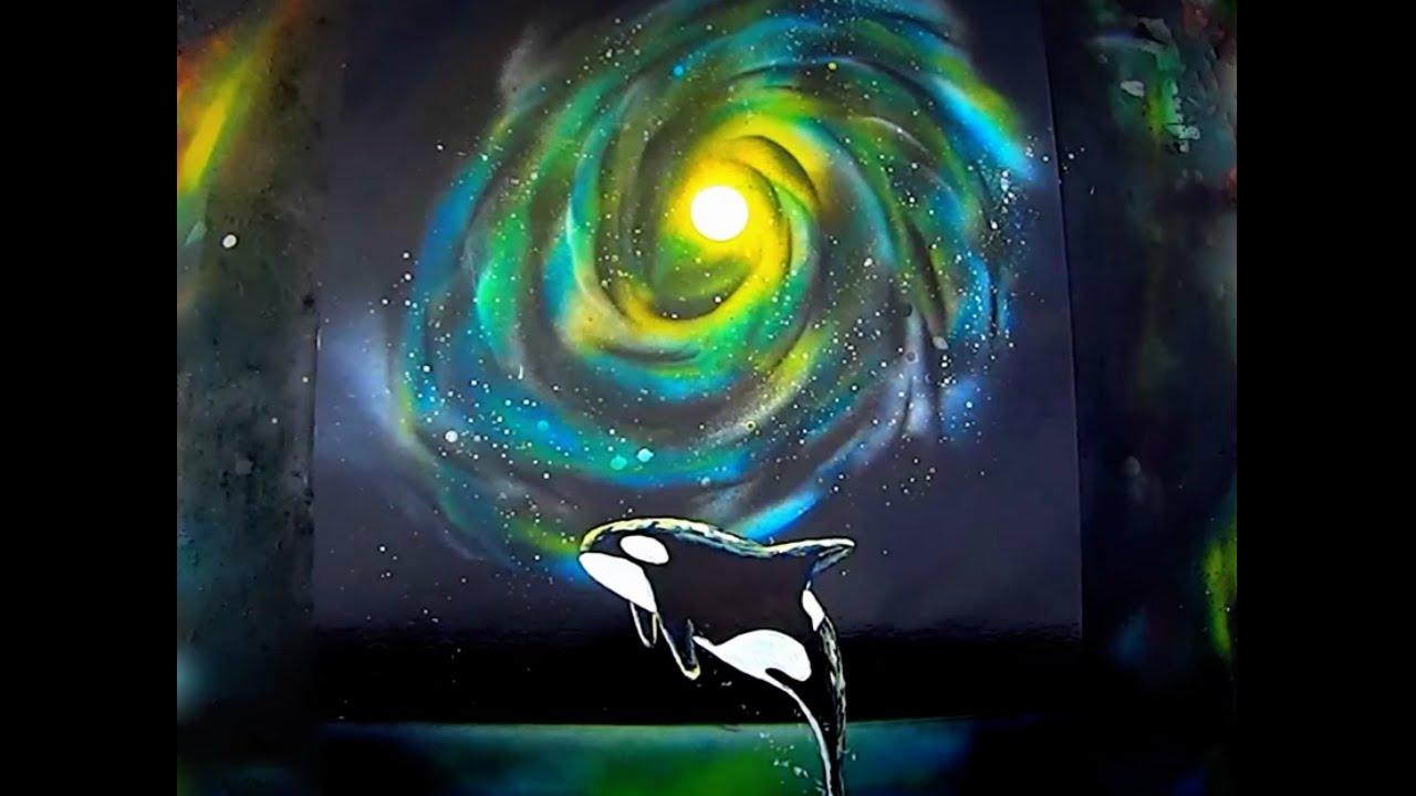 Milky Way Acrylic Painting Tutorial - The Night Sky Over