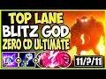 TOP LANE BLITZCRANK GOD! ZERO CD ULTIMATE MAKES YOU A MONSTER! LoL Top Blitz Season 9 Gameplay