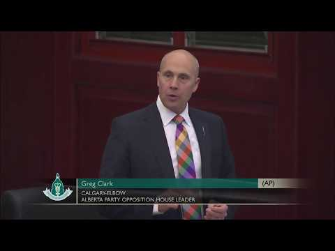MLA Greg Clark speaks to Government Motion 13, Provincial Fiscal Policies