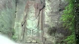 Hyakushaku-Kannon at Nihon-ji in Mt.Nokogiri in Japan