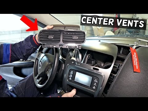 DODGE JOURNEY CENTER DASH VENTS REMOVAL REPLACEMENT FIAT FREEMONT