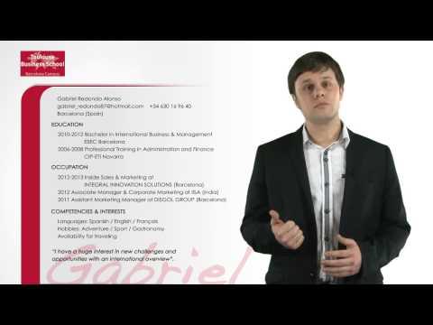 Gabriel Redondo: Videocurrículum
