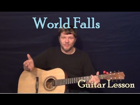 World Falls (Indigo Girls) Easy Strum Guitar Lesson How to Play Tutorial