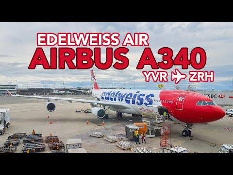 EDELWEISS AIRBUS A340 | Economy Class | YVR-ZRH