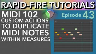 3 ways to duplicate MIDI Notes in Reaper (Rapid-Fire Reaper Tutorials Ep43)
