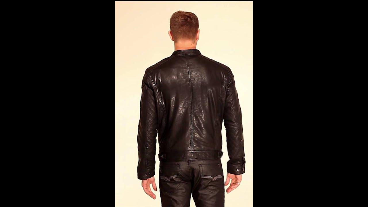 2d84b7dd157b3 Blouson Daytona en cuir noir Henryk sheep punto - YouTube