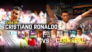 CARA DE CRISTIANO RONALDO [FIFA 14 Android- FIFA 18 MOBILE] VS CARA REAL