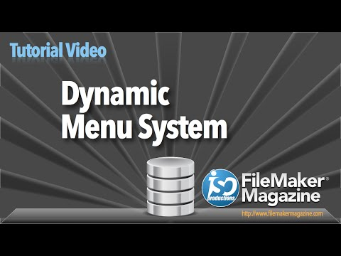 FileMaker Tutorial - Dynamic Menu System