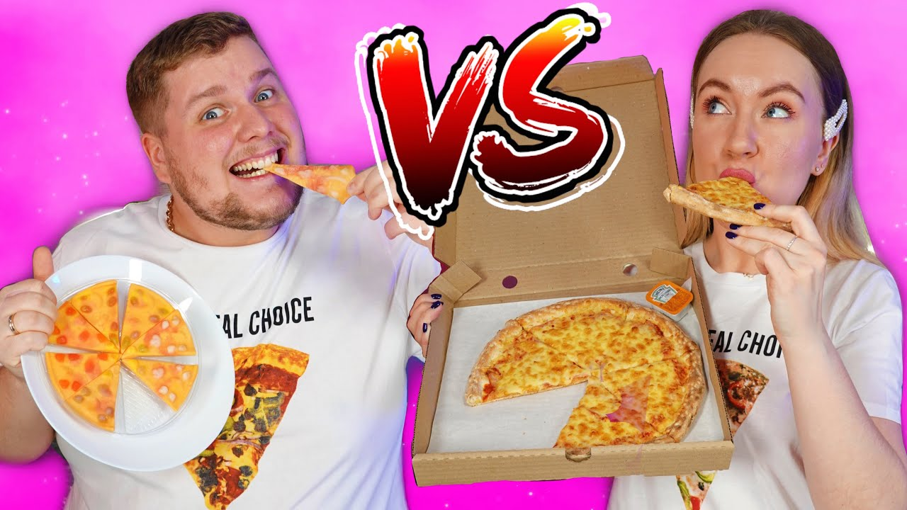 ОБЫЧНАЯ Еда против МАРМЕЛАДА ЧЕЛЛЕНДЖ! Real Food vs Gummy Food Challenge!