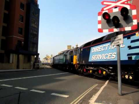 The Boat Train departs Southampton Eastern Docks on the Cunard Cruise Saver Express 30/04/2011