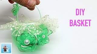 Cute Basket from Plastic Bottle | Art and Craft Ideas