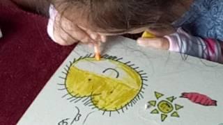 How to  Draw a Sun, Potato, Hotdog and a tree