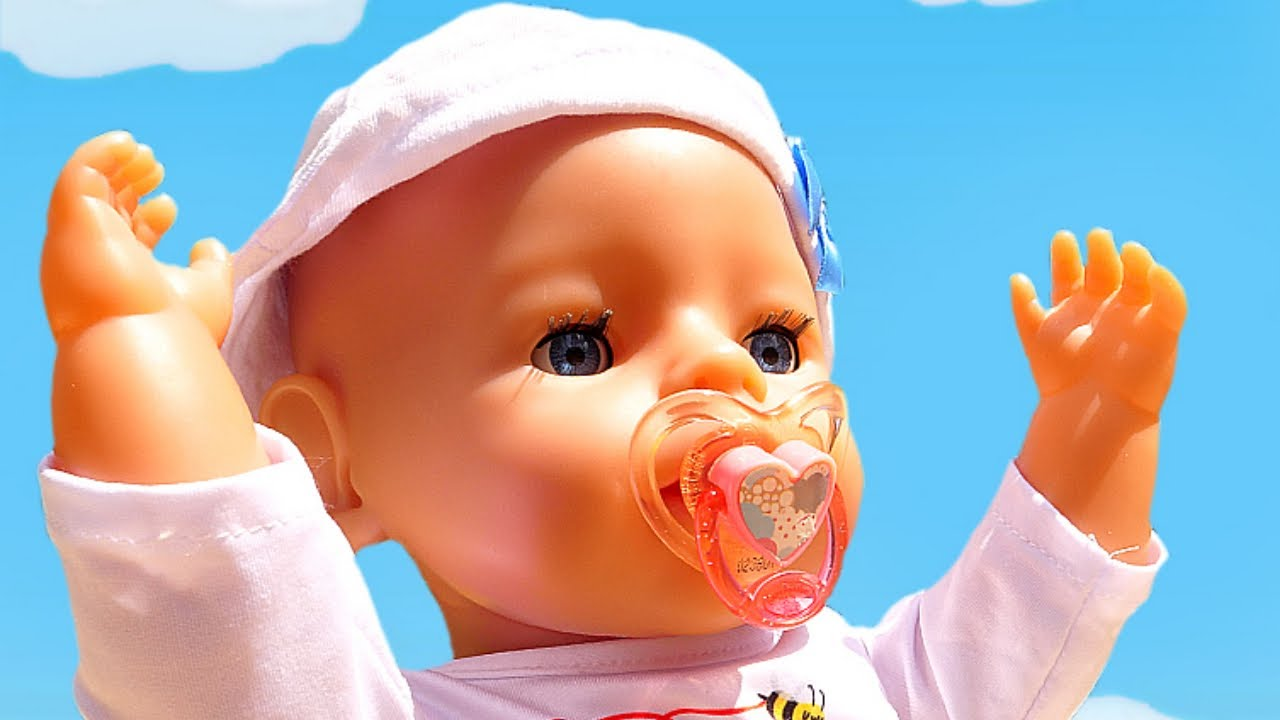 Baby doll videos for kids - Nanny and Baby Annabell doll & toy stroller for baby dolls.