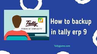 data backup in tally, how to backup in tally erp9