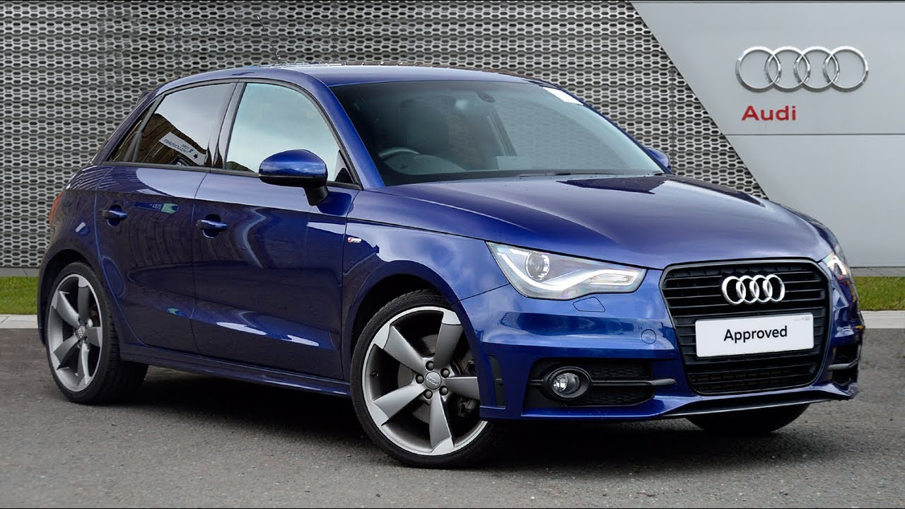 audi a1 sportback tfsi s line black edition blue 2014 youtube. Black Bedroom Furniture Sets. Home Design Ideas