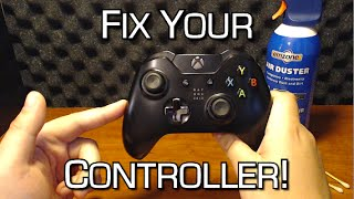 """How To Fix Sticky or """"Broken"""" Analog Sticks - Stick Drift Solution - Xbox One Controller"""