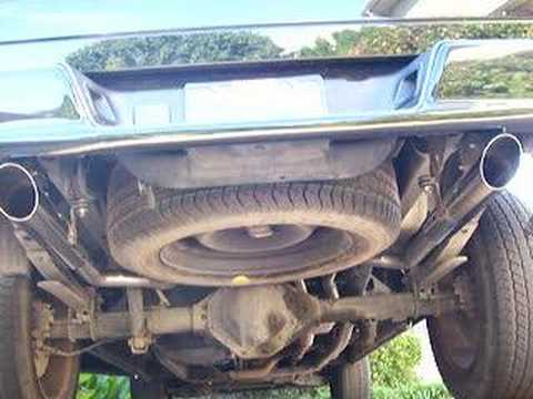 dodge ram 4.7 with flowmaster 40 dual exhaust - YouTube