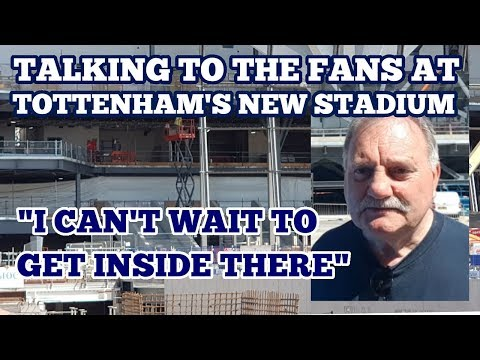 TALKING TO THE FANS AT TOTTENHAM'S NEW STADIUM (RETRACTABLE PITCH LIVE)