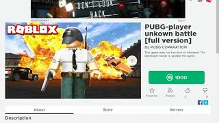I GOT A PUBG GAME IN ROBLOX BUT I CANT JOIN ;(