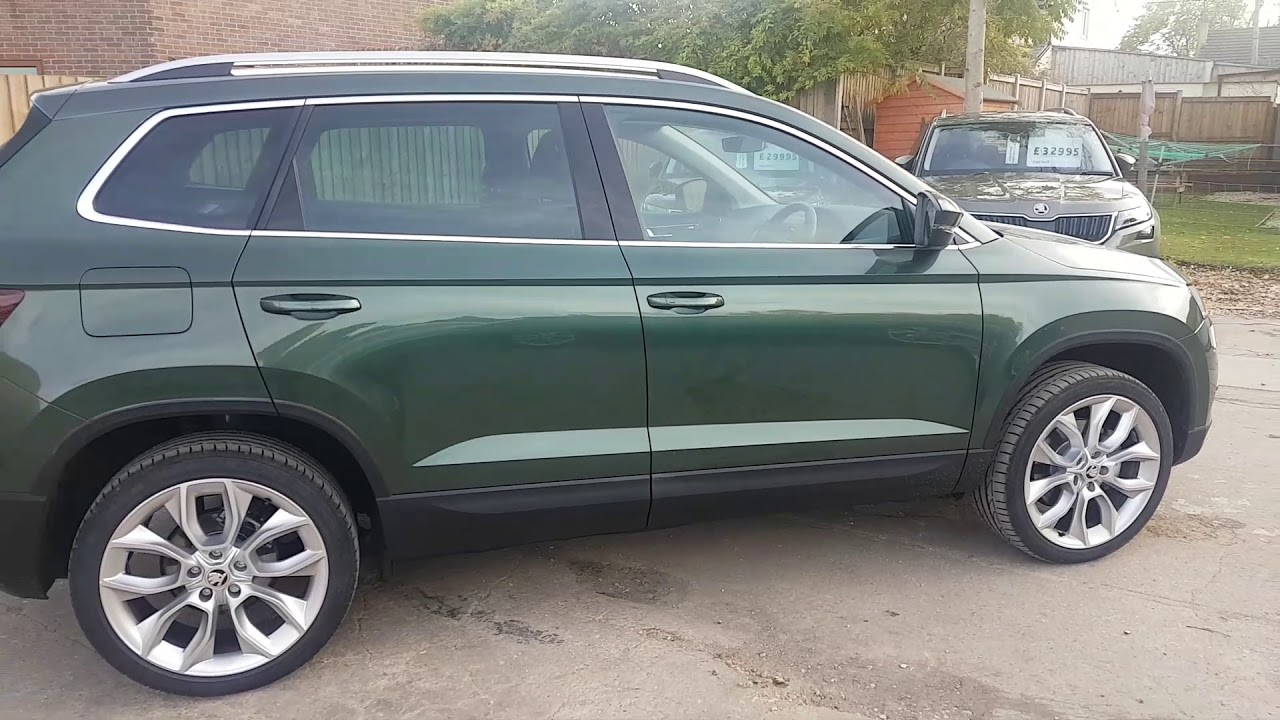 2018 skoda karoq 1 5 tsi edition dsg in emerald green youtube