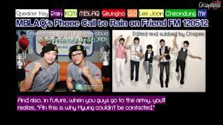 120512 eng sub mblaq phones rain on friend fm
