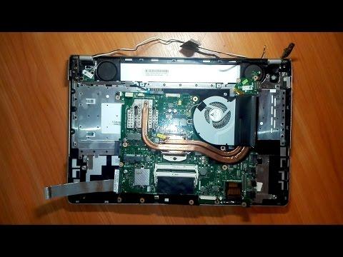 Как разобрать ноутбук asus n56v видео