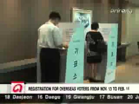 Voter Registration for Overseas Korean Nationals to Begin This Sunday
