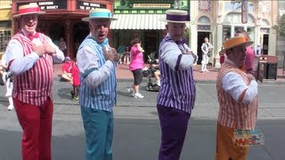 Dapper Dans sing boy band songs on Main Street USA at Walt Disney World - BINAURAL