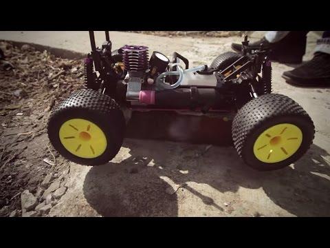 HSP Gladiator Nitro Off-Road Truggy (первый запуск)