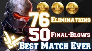 Overwatch INCREDIBLE Carry w/ Soldier  [76 Eliminations insane finish!]