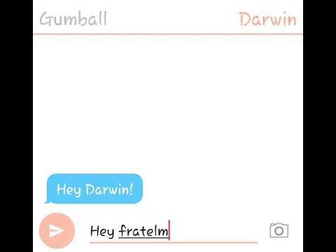 Chat tra Gumball e Darwin (Gumwin)