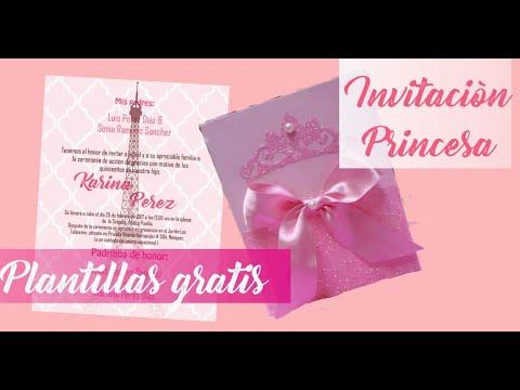 Diy Invitacion Tarjeta Princesa Plantillas Gratis Youtube
