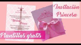 DIY Invitacion/Tarjeta Princesa- Plantillas gratis