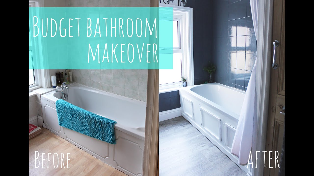 Economical Bathroom Makeovers budget bathroom makeover - youtube