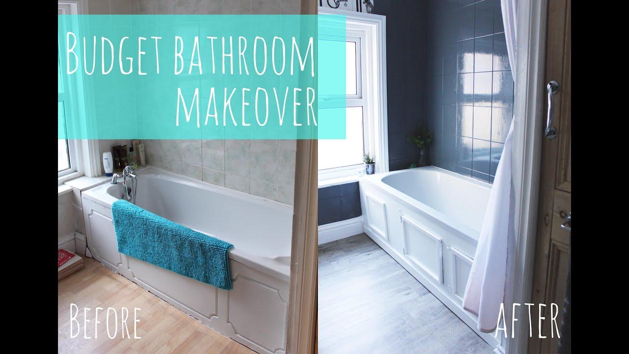 budget bathroom makeover - youtube