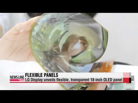 LG Display unveils flexible, transparent OLED panels