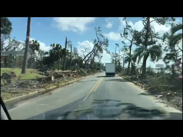 Hurricane Michael Aftermath in Panama City Florida