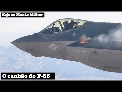 O canhão do F-35