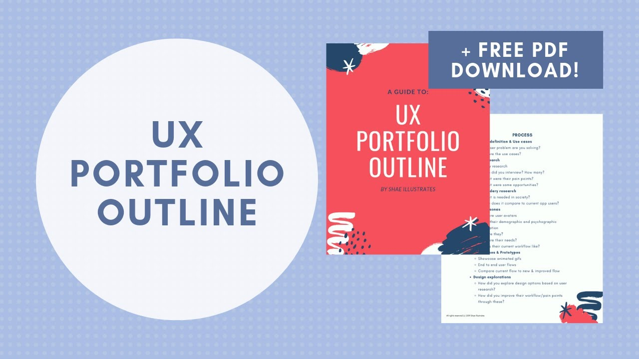 Ux Portfolio Outline Pdf Template What I Use For My Ux Portfolio As A Ux Product Designer Youtube