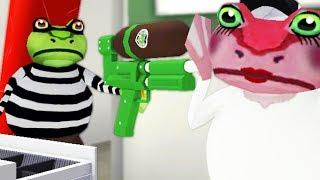 CRIMINAL FROG ROBS COFFEE SHOP! - Amazing Frog - Part 114 | Pungence