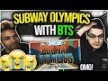 Subway Olympics with BTS   OMG THEY CHEATED! REACTION