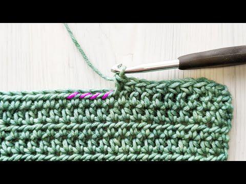 Single Crochet in 3rd Loops (sc 3rd loops)