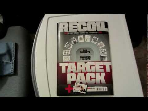 WALMART FIND: RECOIL TARGET PACK-10 TARGETS-SHOOTING TIPS-2 SIDED POSTER
