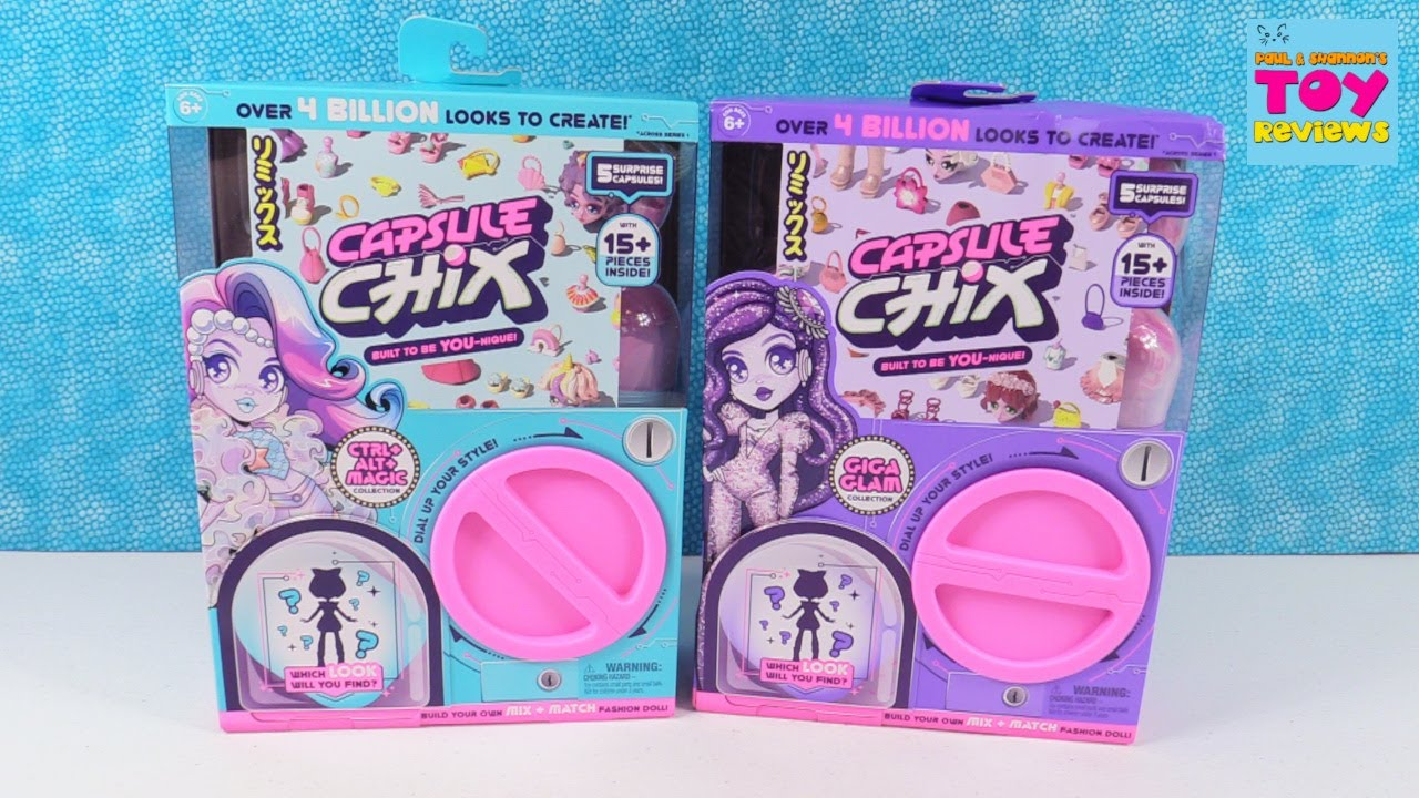 4.5 inch Doll with Capsule Machine Unboxing Capsule Chix Giga Glam Collection