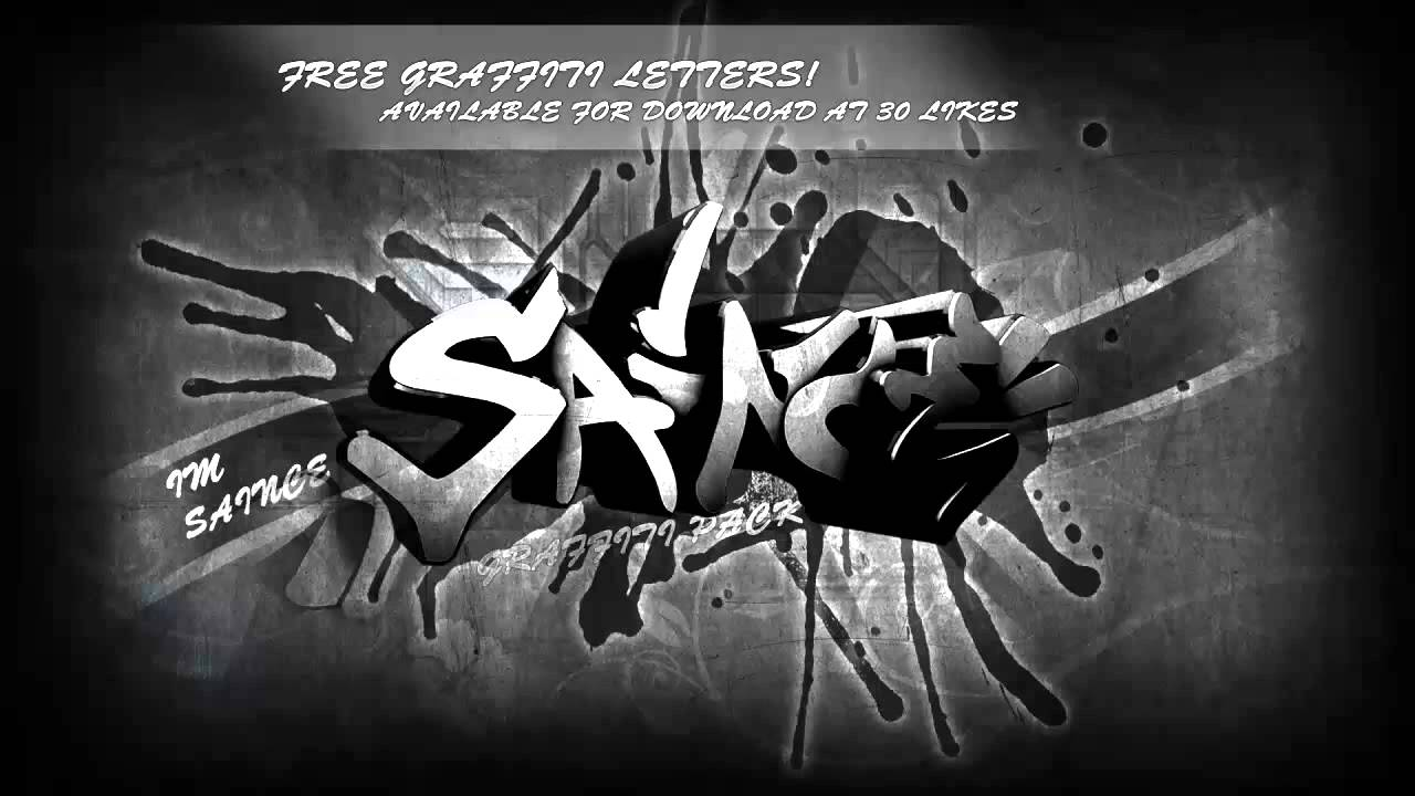 Download Graffiti Alphabet Free Download - by ImSaince - YouTube
