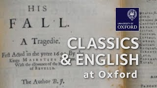 English and Classics at Oxford University