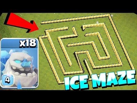 NEW ice GOLEm MAZE BASE!!