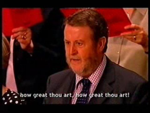 Aled Jones sings How Great Thou Art
