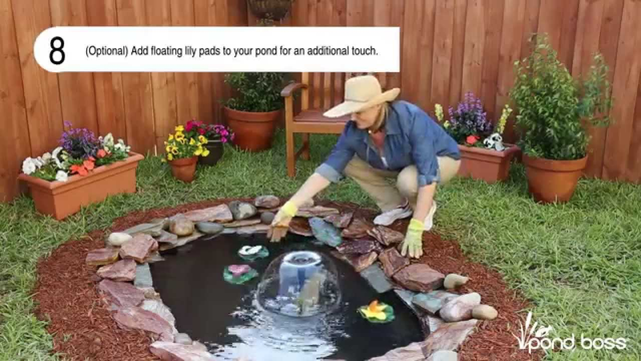 How to build a small pond youtube for Making a garden pond